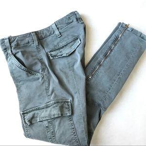J Brand Houlihan Ankle Zip Skinny Cargo Olive 25